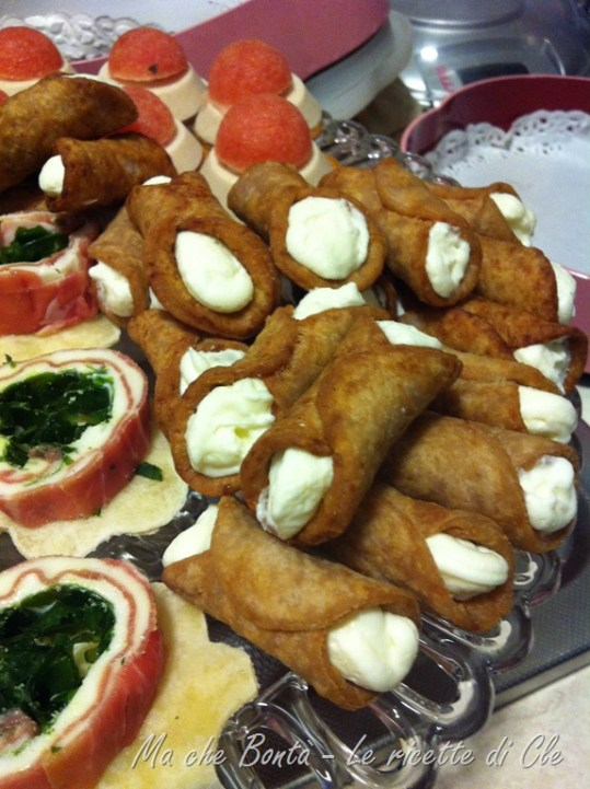 Mini cannoli siciliani